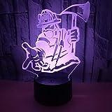 SSYYJJ 3D Lampe Illusion Optique LED Veilleuse de Nuit Lampe de Chevet Chambre Déco...