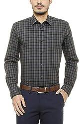 Peter England Mens Plain Slim Fit Formal Shirt