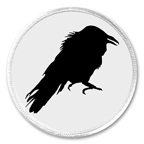 Black Raven 3' Sew On Patch Crow Bird