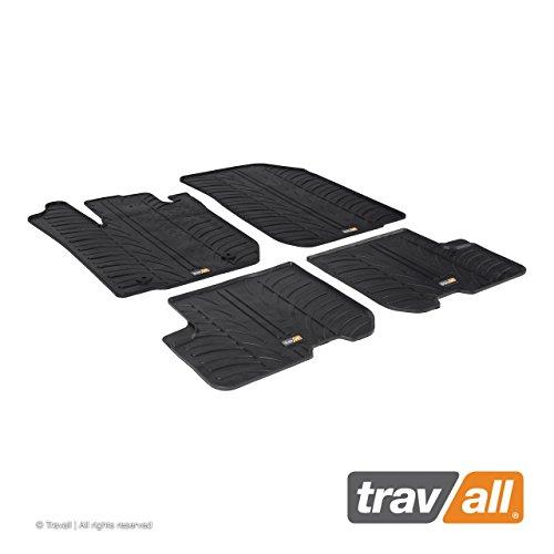 Travall Mats Tapis de Voiture Compatible avec Dacia Sandero Hayon Stepway et Logan (2012 et Ulterieur) MCV (2013 et Ulterieur) TRM1207 - Tapis de Sol en Caoutchouc sur Measure