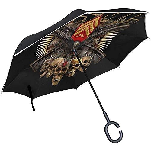 ETGeed Paraguas invertido Diseñador US Marine Corps Reverse Umbrella