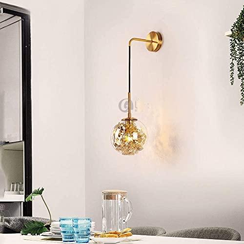 BUSUANZI Lámpara de Noche de Dormitorio Minimalista Creativa, lámpara de Pared de Cristal de Arte de Arte de Arte