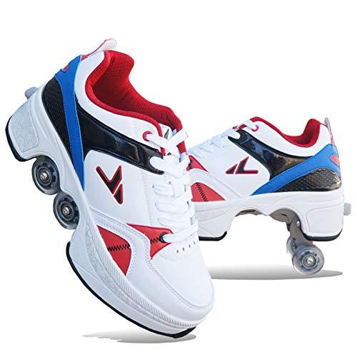 Patines, Zapatos de Cuatro Ruedas para niños y niñas, Adultos, Patines Profesionales...