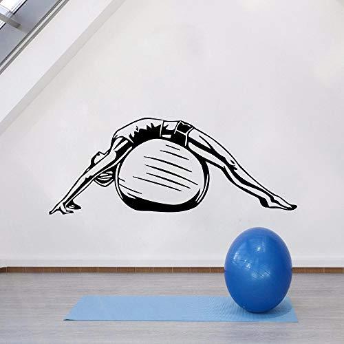 Pegatinas de pared de vinilo para yoga, estilo de vida saludable, decoración para el hogar, dormitorio, meditación, arte moderno, mural de techo