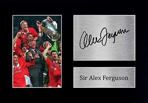 HWC Trading Sir Alex Ferguson A4 Ungerahmt Signiert Gedruckt Autogramme Bild Druck-Fotoanzeige Geschenk Für Manchester United Fußball Fans