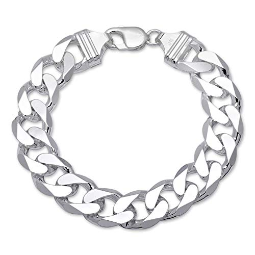 925 Silberarmband: Panzerarmband Silber 15 mm breit - Länge frei wählbar PA0150