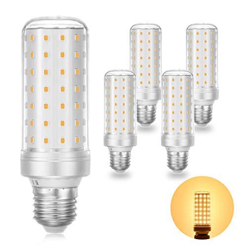 E27 LED Lampe 10W Warmweiß 3000K E27 LED Schraubfuß Glühbirne ersatz 100W 80W 60W E27 Halogenlampe, Energiesparlampe E27 Mais Birne, Kleine Edison-Schraube Kerze Licht E27 5er