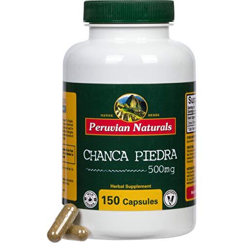 Chanca Piedra (Stonebreaker) 500mg - 150 Capsules, Digestive Supplement for Kidney, Stone and Urinary Health, Dissolver Supplement - Peruvian Naturals