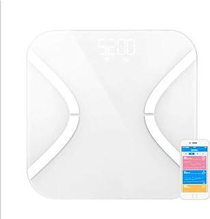 Qaqv Yolanda - Báscula de peso inteligente para el cuerpo, balanza digital para el baño, balanza Bmi báscula electrónica Bluetooth
