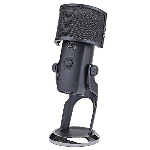 BLUE Microphones Yeti X USB Microphone (Dark Gray) with Knox Gear Pop Filter (2 Items)