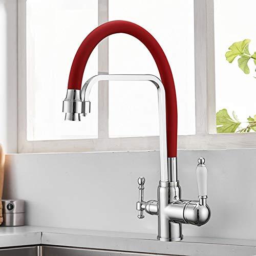 NJIANGHUA Keukenkraan Filter Keukenkraan Drinkwater Zwart Badrandcombinatie Mengkraan 360 Rotatie Zuiver Waterfilter Aanrecht Kranen