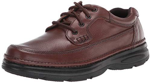 Nunn Bush Men's Cameron Moc Toe Oxford with Comfort Gel Footbed, Brown, 9 Wide