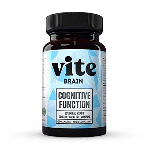 Vite Brain Nootropic Supplement - Cognitive Enhancer Brain Vitamins/Nootropics for Cognitive Function. - Energy, Focus Productivity.