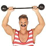 NET TOYS Lustige Bodybuilder Fake Langhantel - Schwarz 75cm - Originelles Party-Accessoire...
