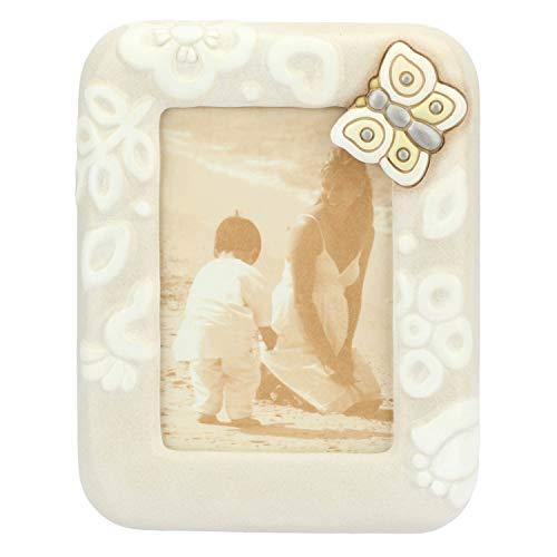 THUN - Cornice Portafoto Rettangolare da Tavolo Medio Linea Prestige - Formato 9,5 x 14 cm - Ceramica