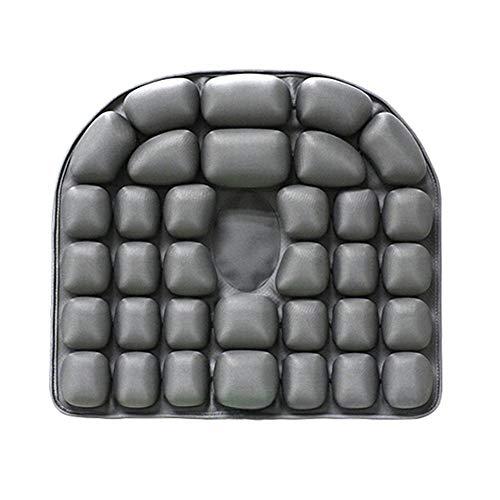 Wasser- und Luft-Dual-Zweck-Kissen, aufblasbares Kissen 3D, eisgefülltes Sofa, atmungsaktives Kissen (Color : Gray)