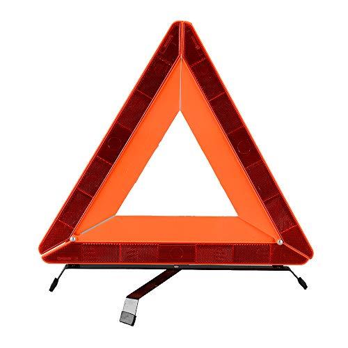 AYKRM Warndreieck Euro mit Aufbewahrungsbox, ECE Zertifiziert -Notfalldreieck- Sicherung von Unfall- und Gefahrenstellen (ROT3)