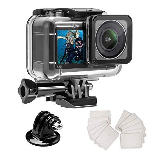 Wasserdichtes Gehäuse für DJI OSMO Action-Kamera-Zubehör, Gehäuse Schutzhülle mit Anti-Beschlag-Einsätzen, geeignet für Unterwasser-Fotografie, 61 m