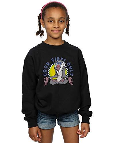 Disney Mädchen The Lion King Rafiki Good Vibes Only Sweatshirt Schwarz 5-6 Years