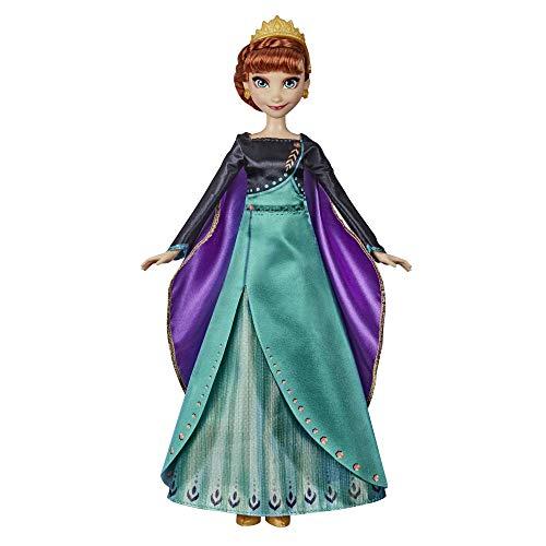 Disney Frozen Muñeca Musical de Aventura Anna Cantando, Canta 'Some Things Never Change' canción de Disney Frozen 2 Movie, Anna Toy para niños