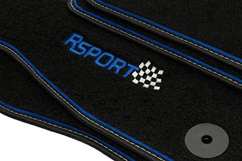 Sport Velour Fußmatten Satz für Ford Mondeo MK4 (2008-2015) - 4-teilig - Passgenau