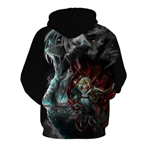 CHENMA Men Attack on Titan 3D Print Pullover Hoodie Sweatshirt with Kangaroo Pocket (M/UK S, Color 7)