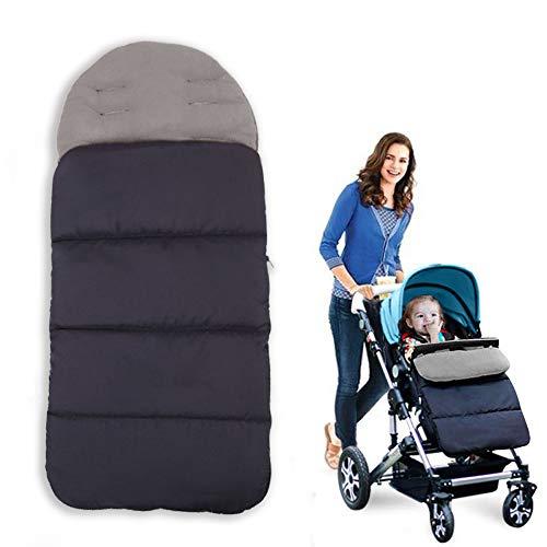 Sacco a pelo Baby AUVSTAR, Passeggino Universale 3 in 1 Passeggino Tappetino Coprigambe Passeggino Bunting Bag Impermeabile Antivento Freddo Staccabile (Grigio)