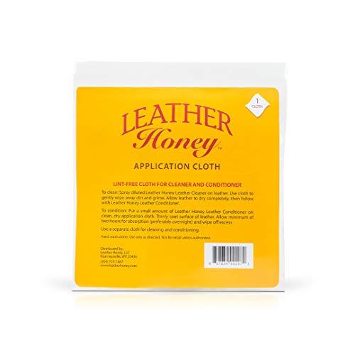 Leather Honey-fusselfreies Applikationstuch - Perfekt für die Verwendung mit den besten Lederpflegeprodukten seit 1968 - Leder-Conditioner und Lederreiniger Mikrofasertuch