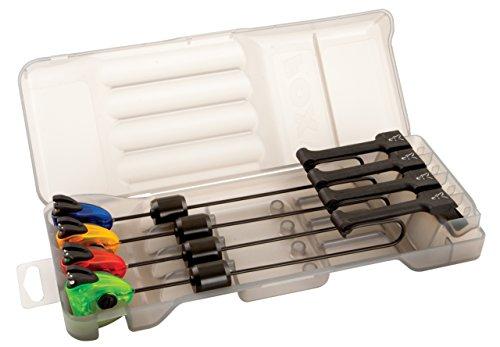 FOX MK3 Swinger 4 Rod Set - 4 Karpfenbissanzeiger zum Karpfenangeln, Einhängebissanzeiger, Bissanzeiger für Karpfen