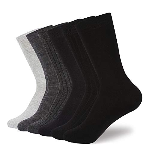 JOURNOW Women's Modal Super Smooth Skin Care Dress& Casual Socks 6 Pairs (9-11, Mix Color 2)