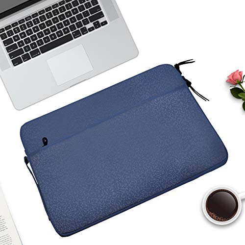 YAHLSEN Diamond Pattern Portable Waterproof Sleeve Case Double Zipper Briefcase Laptop Carrying Bag for 11-12 inch Laptops (Dark Blue). (Color : Dark Blue)