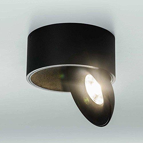 Licht-Trend Santa LED Aufbauleuchte schwenk- & dimmbar 980 Lumen Schwarz Deckenlampe Deckenleuchte LED-Spot Strahler dimmbar schwenkbar