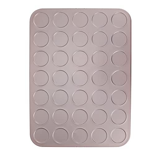 Baking Tray, Non-Stick Cookie Sheet Baking Sheets Cake Pan Baking Pans Set for Cafe for Kitchen for Home for Bakery(35 Macarons Baking Pan)