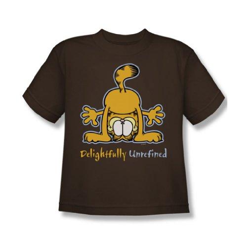 Garfield - Herrlich raffiniertes - Jugend Kaffee Kurzarm T-Shirt für Jungen, Youth Medium, Coffee
