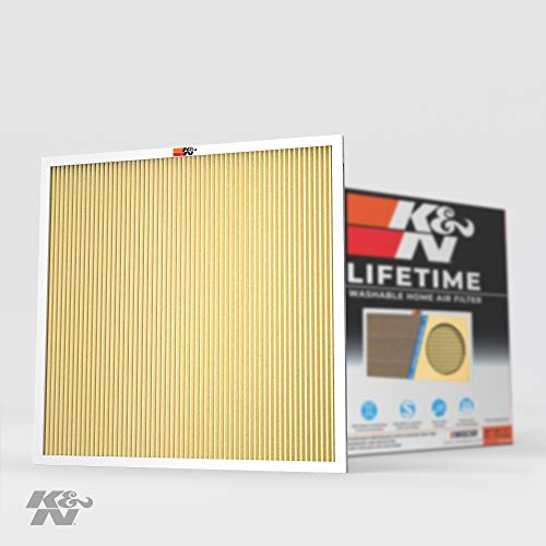 K&N 20x20x1 HVAC Furnace Air Filter Lasts a Lifetime, Washable, Merv 11, Removes Allergies, Pollen, Smoke, Dust, Pet Dander, Mold, Smog, and More, Breathe Cleanly at Home or in the Office, 20x20x1