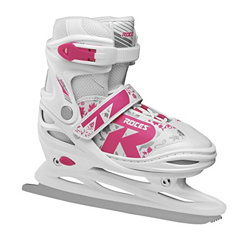 Roces Kinder Jokey Ice 2.0 Verstellbarer Schlittschuh, White/Fuchsia, 26-29