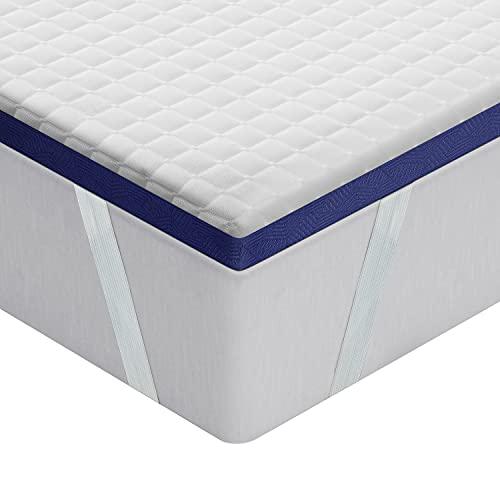 BedStory Topper Materasso Singolo in Memory Foam con Gel, 80x190x5cm, Coprimaterasso in Gel Schiuma ipoallergenico, antiacaro e traspirante, Correttore materasso con Rivestimento Rimovibile e Lavabile
