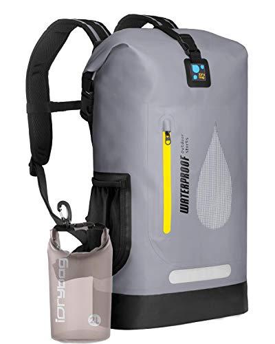 IDRYBAG PVC Waterproof Dry Bag Outdoor 30L Marine Dry Bag Water Sports Floating Bag Backpack Waterproof Durable