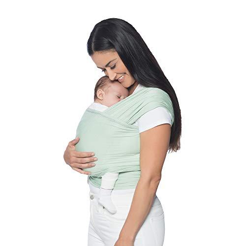 Ergobaby Babytragetuch für Neugeborene ab Geburt bis 11kg, Sage Baby Tragetuch Elastisch Atmungsaktiv, Sling aus 100% Viskose