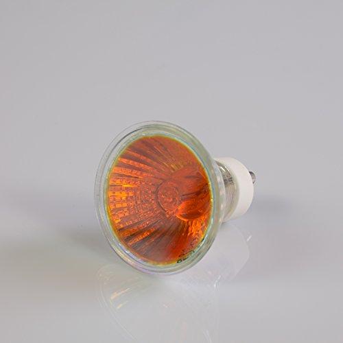 Showking Deckenlampe 230V / 35W / Sockel GU - 10/25° / rot - farbiges Ersatz - Leuchtmittel für Deckenleuchten