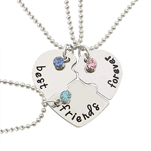 jewelleryjoy Best Friends Forever Necklace Puzzle Heart Friendship Broken...