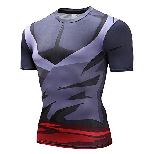Vegeta Goku Print 3D T Shirt Dragon Ball Z Compression Shirt Short Sleeve