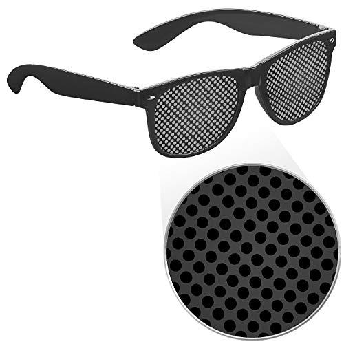 PEARL Rasterbrille: Lochbrille zur Augen-Gymnastik und -Entspannung, schwarz (Loch-Brille)