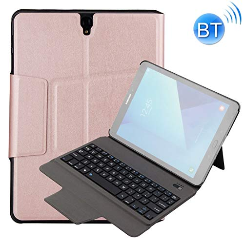 Angelay-Tian External Wireless Keyboard Pad Case Kids Pad for Samsung Tab S3 9.7 T820 / T825 Case Pad Air Case (Color : Rose Gold)