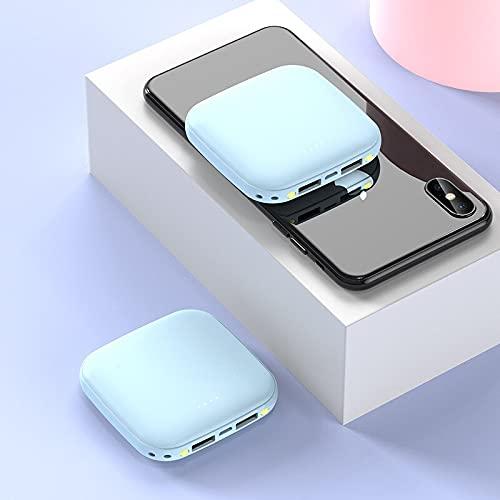 rongshengxinye Mobile Power - Cargador portátil para iPhone 11 X XR Xiaomi Mi 9 8 Huawei P30 Poverbank (color: azul)