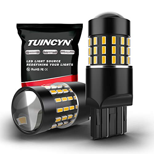 TUINCYN 7443 7440 T20 W21/5W 992 7444NA LED Bianco Lampadine 3014 54-EX Chipset Luce di retromarcia, luce di posizione, luce di marcia diurna, luce di direzione posteriore, luce di coda (2 pezzi)