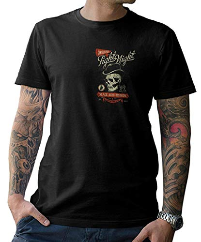 T-Shirt - Fight Night – im Oldschool Look Front- und Rückenprint S-5XL