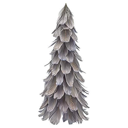GreenGate XMAFTRM8104 Federbaum Grey medium 31,5 cm (1 Stück)