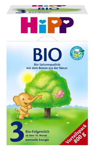 HiPP 3 melkvoeding, volgmelk vanaf de 10e Maan, 4-pack (4 x 800 g)
