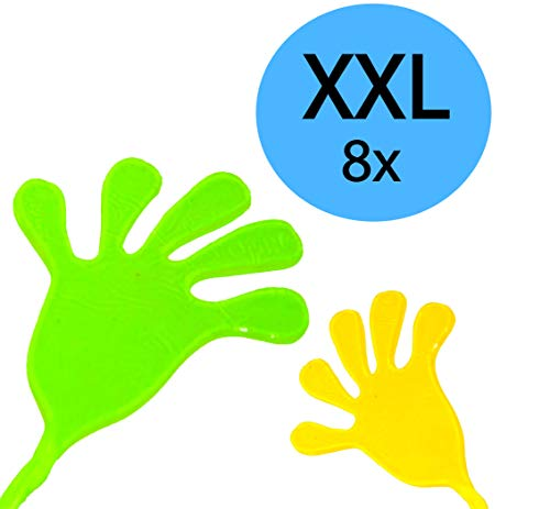 L+H 8X XXL Klatschhand Glibber Mitgebsel Mitbringsel Give aways Scherzartikel | ideal geeignet für den Kindergeburtstag als Mitgebsel oder Gastgeschenk für Kinder